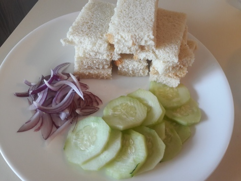 Hummus Cucumber Tea Sandwiches 1