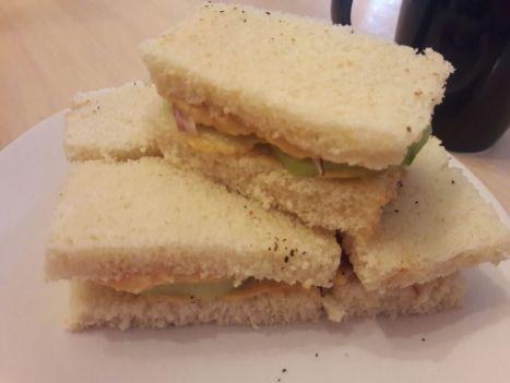 Hummus Cucumber Tea Sandwiches 5
