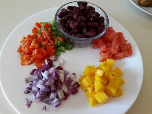 Mango Bean Salsa 1