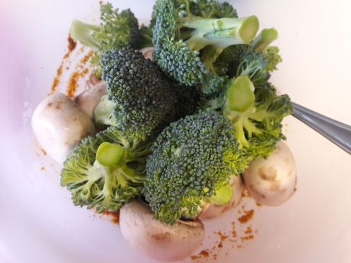 Broccoli and Mushroom Skewers for Two 4