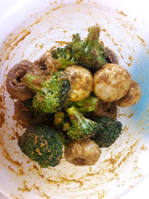 Broccoli and Mushroom Skewers for Two 5