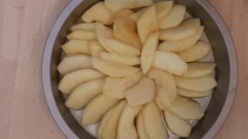 Eggless Upside Down Apple Cake 19