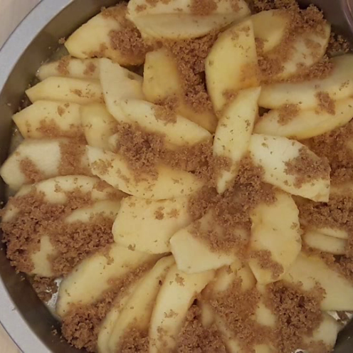 Eggless Upside Down Apple Cake 21