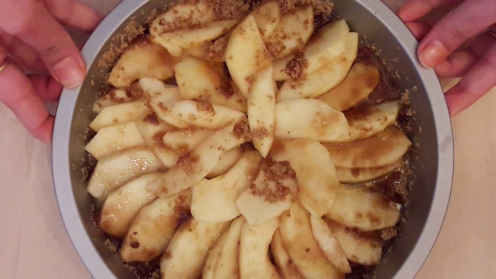 Eggless Upside Down Apple Cake 23