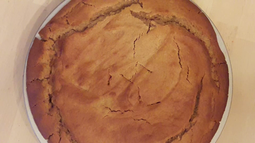 Eggless Upside Down Apple Cake 26