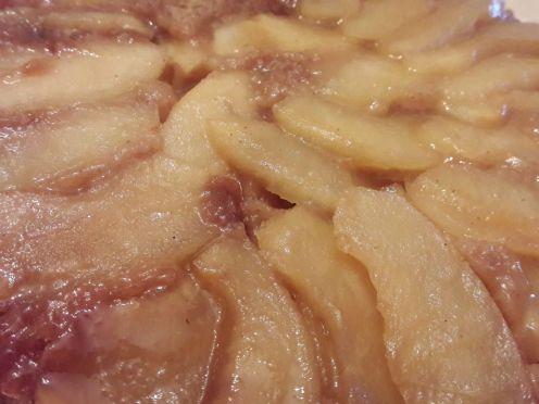 Eggless Upside Down Apple Cake 31