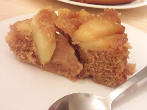 Eggless Upside Down Apple Cake 32