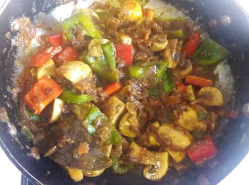 Mushroom and Capsicum Curry 16