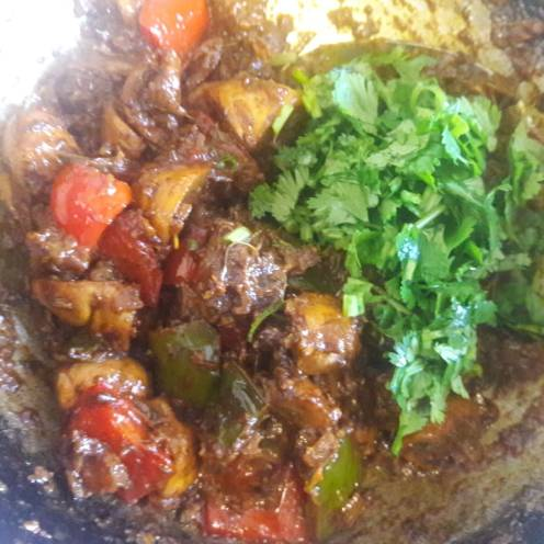 Mushroom and Capsicum Curry 18