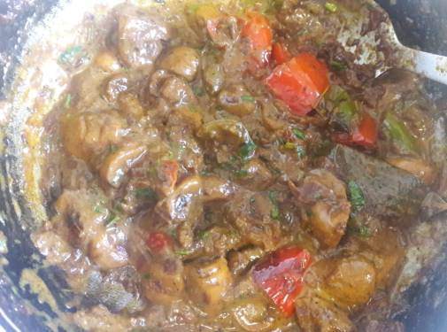 Mushroom and Capsicum Curry 22