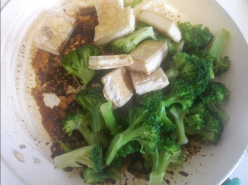 Broccoli and Tofu Stir fry 17