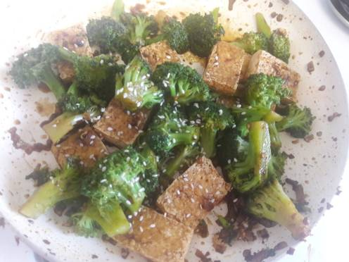 Broccoli and Tofu Stir fry 18