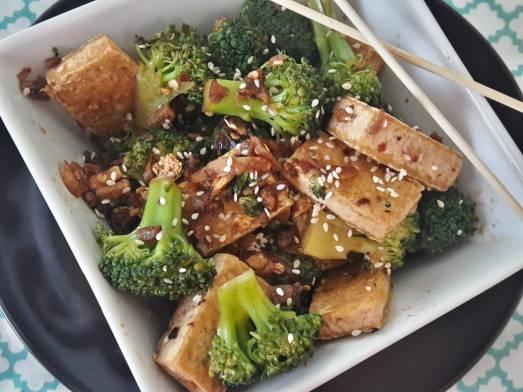 Broccoli and Tofu Stir fry 19