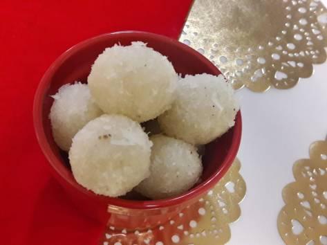 3 Ingredient Fresh Coconut Laddu