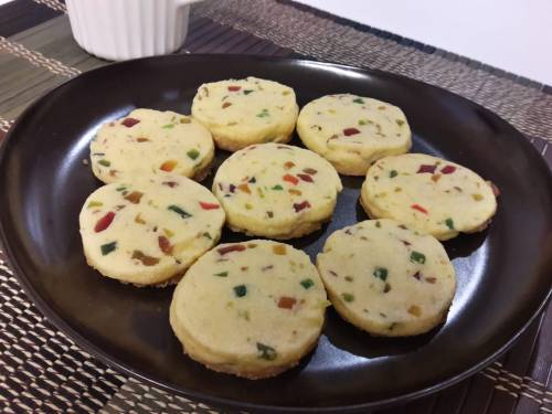 Eggless Tutti Fruity Cookies