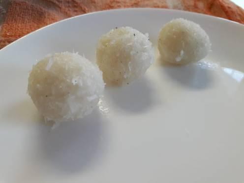 3 Ingredient Fresh Coconut Laddu 7