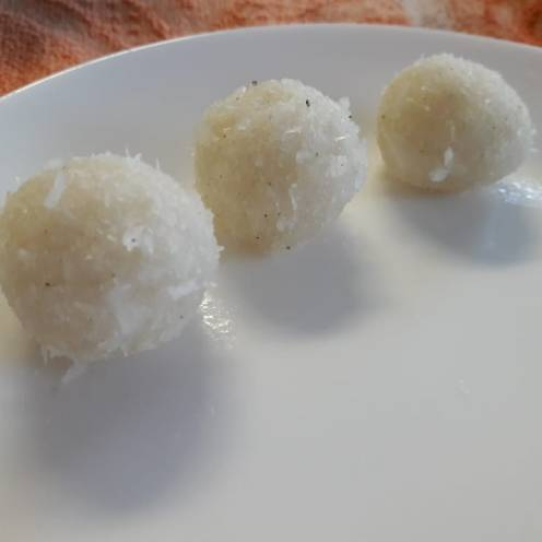 3 Ingredient Fresh Coconut Laddu 7