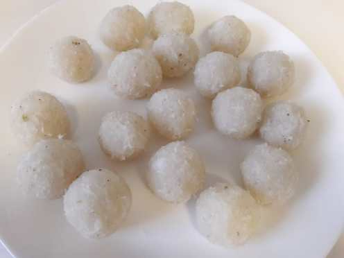 3 Ingredient Fresh Coconut Laddu 8
