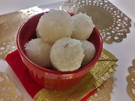 3 Ingredient Fresh Coconut Laddu 9