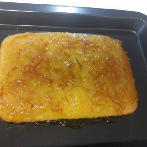 Eggless Orange Cake with Orange Marmalade Glaze 16