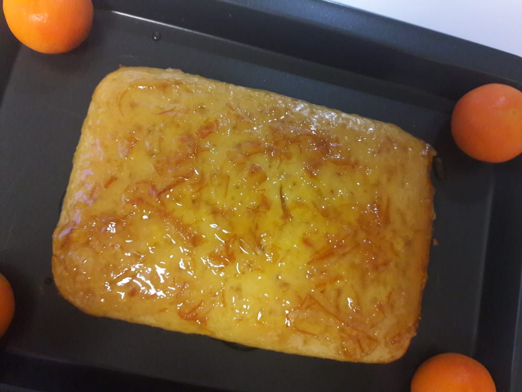 Eggless Orange Cake with Orange Marmalade Glaze 17